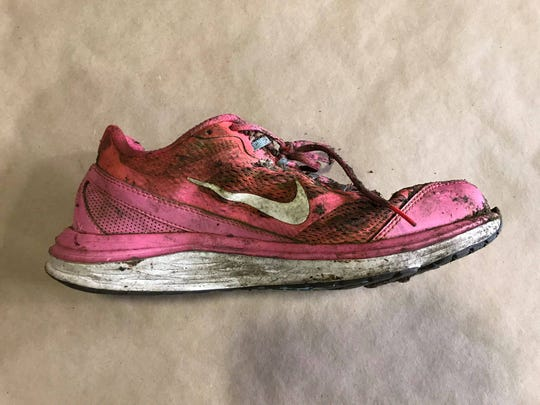 Eaton County Sheriff's Department released this photo of a woman's shoe, asking for tips from the public to help identify a homicide victim found in Eaton Rapids Township.