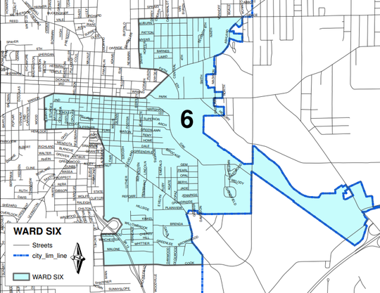 Ward Six of the city of Mansfield.