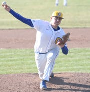 Ontario's Isaac Baldridge gave the Warriors the start they needed on the mound in Wednesday's win over Shelby.