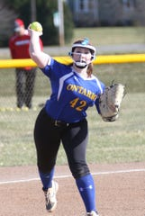 Ontario's Addi Kissinger drilled a home run to help the Lady Warriors pick up a pair of wins over Perkins over the weekend.