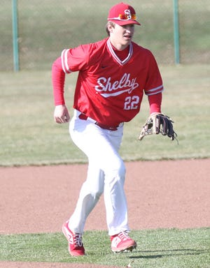 Shelby's Blaise Caudill threw six innings allowing just one run on four hits with six strikeouts while adding three hits and two RBI to lead the Whippets to an 8-1 victory over Ontario.