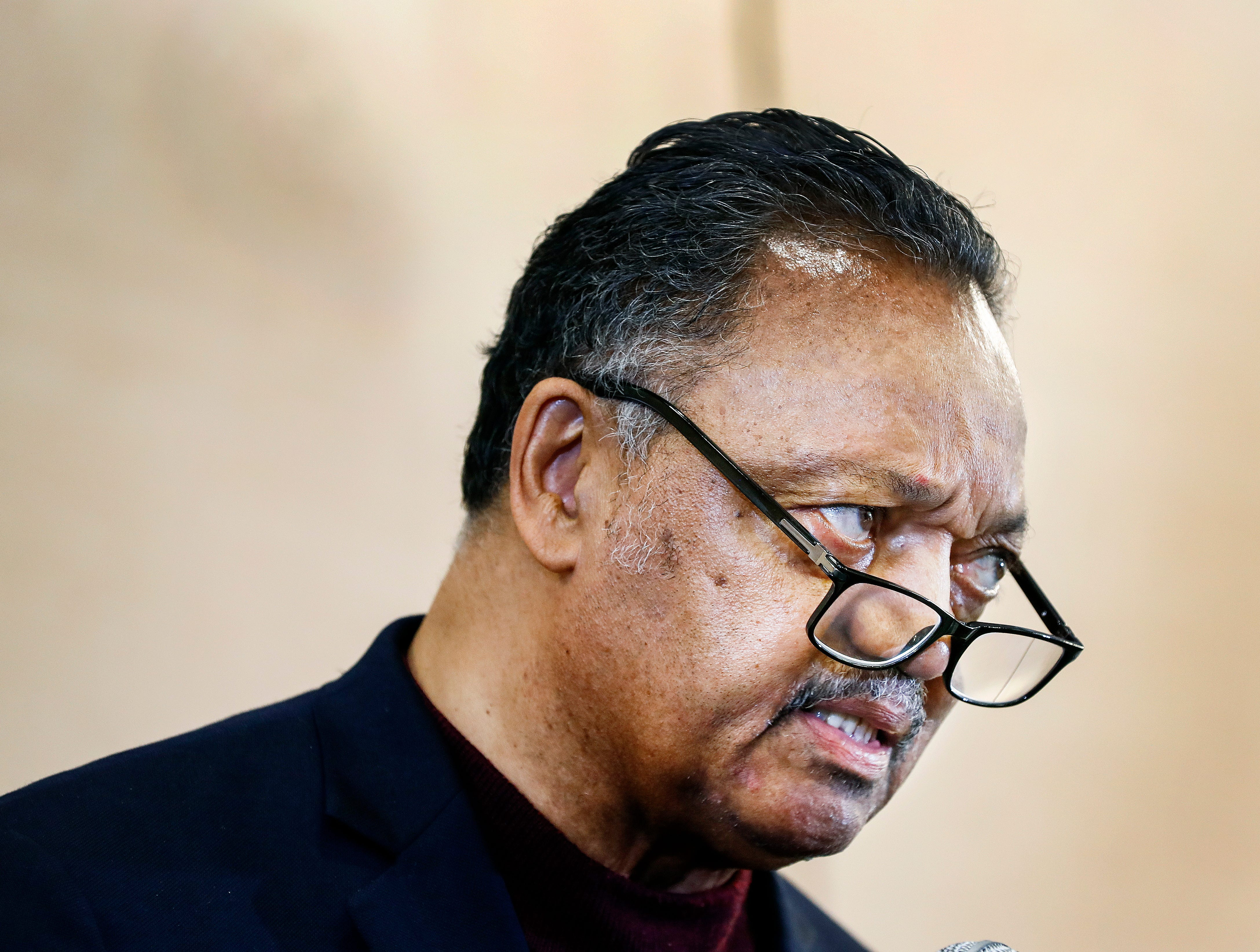 Rev. Jesse Jackson speaks during a commemoration event at the National Civil Rights Museum April 4, 2019, on the 51st anniversary of Dr. Martin Luther King, Jr.'s assassination.