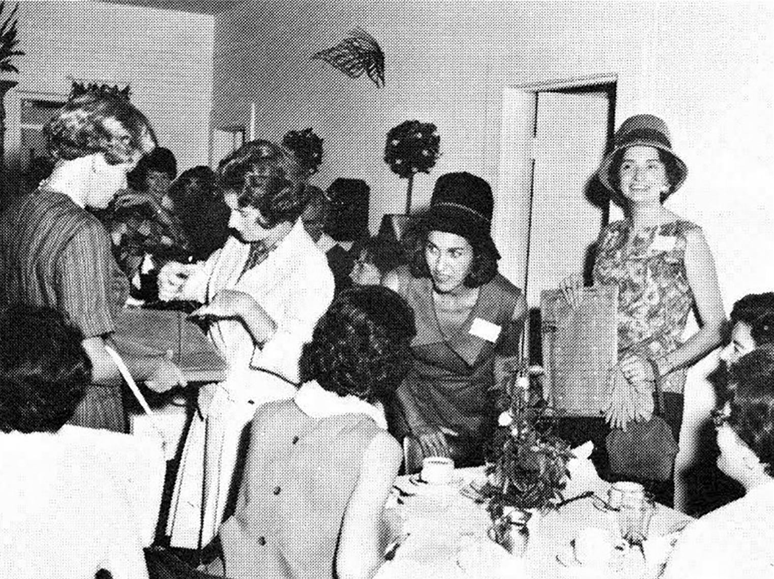 Hattie Gilmore, right, with other wives married to executives of Vitro Corp. of America. The southern tip of Marco Island's beach spent years during the Cold War as a missile tracking station administered by the Air Force. Photo courtesy of Randy Gilmore