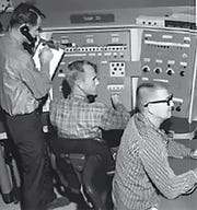 A missile radar tracking crew. The southern tip of Marco Island's beach spent years during the Cold War as a missile tracking station administered by the Air Force. Photo courtesy of Randy Gilmore