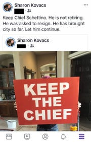 Police Chief Al Schettino's executive assistant wrote on Facebook that his retirement was not voluntary.