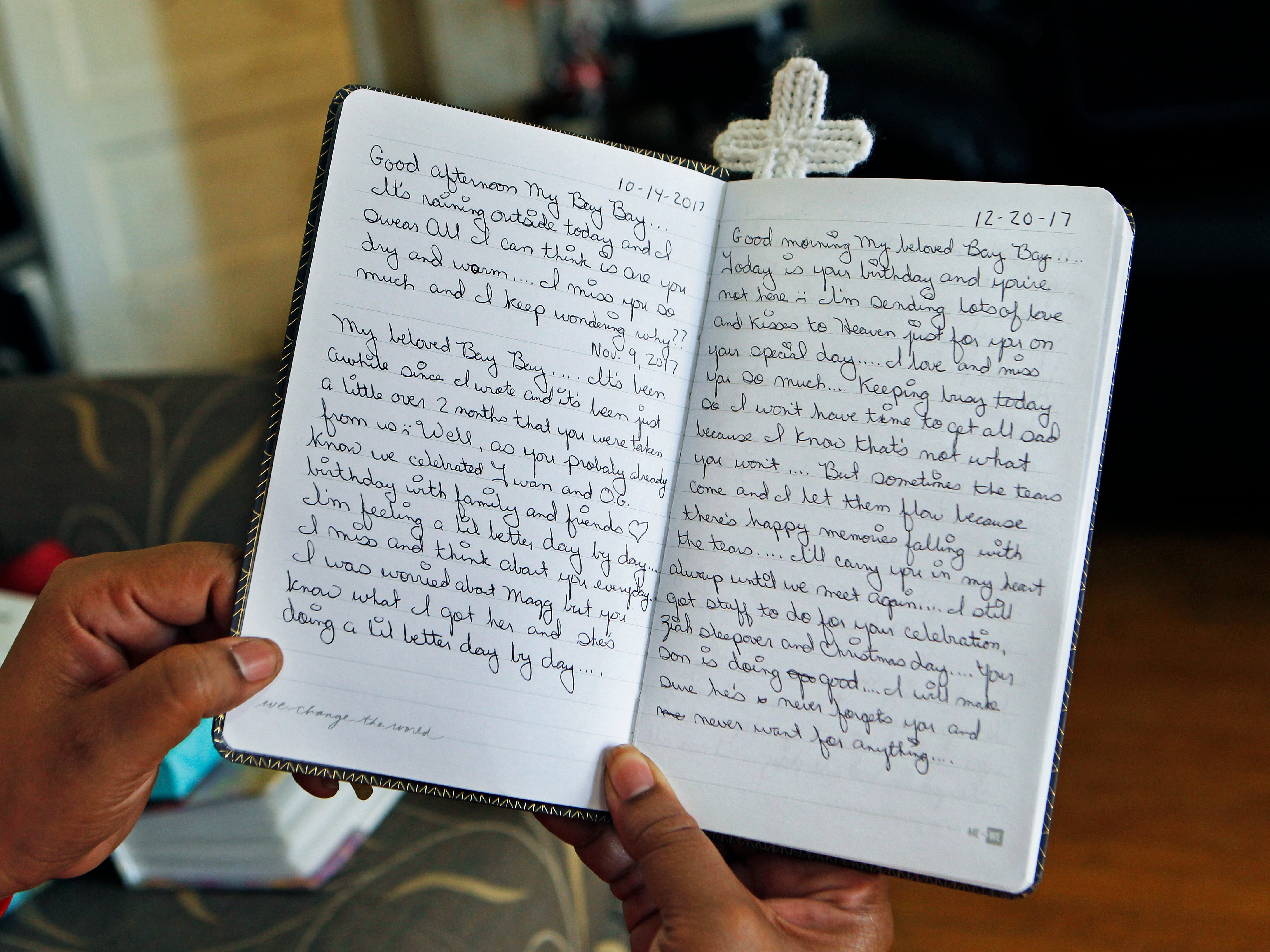 After the death of her son, Tanja Dixon began writing in a journal. She keeps a handful of notebooks and journals tucked around her house and in purses.