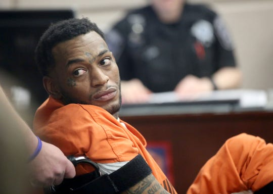 Dariaz L. Higgins looks to the galley as he appears in a Milwaukee County court for a preliminary hearing in Milwaukee on Thursday.