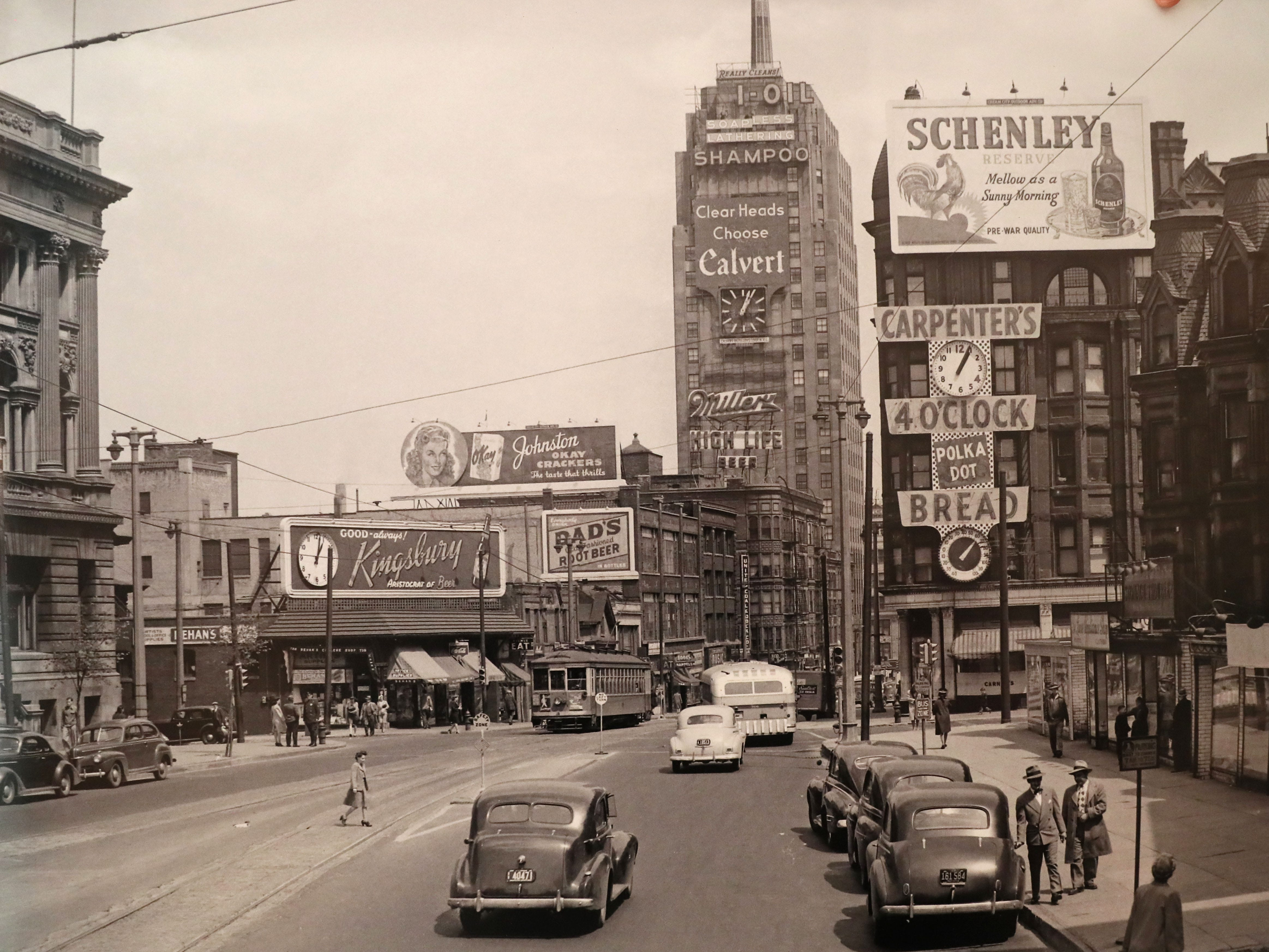 A photo of downtown Milwaukee's Wisconsin Avenue.