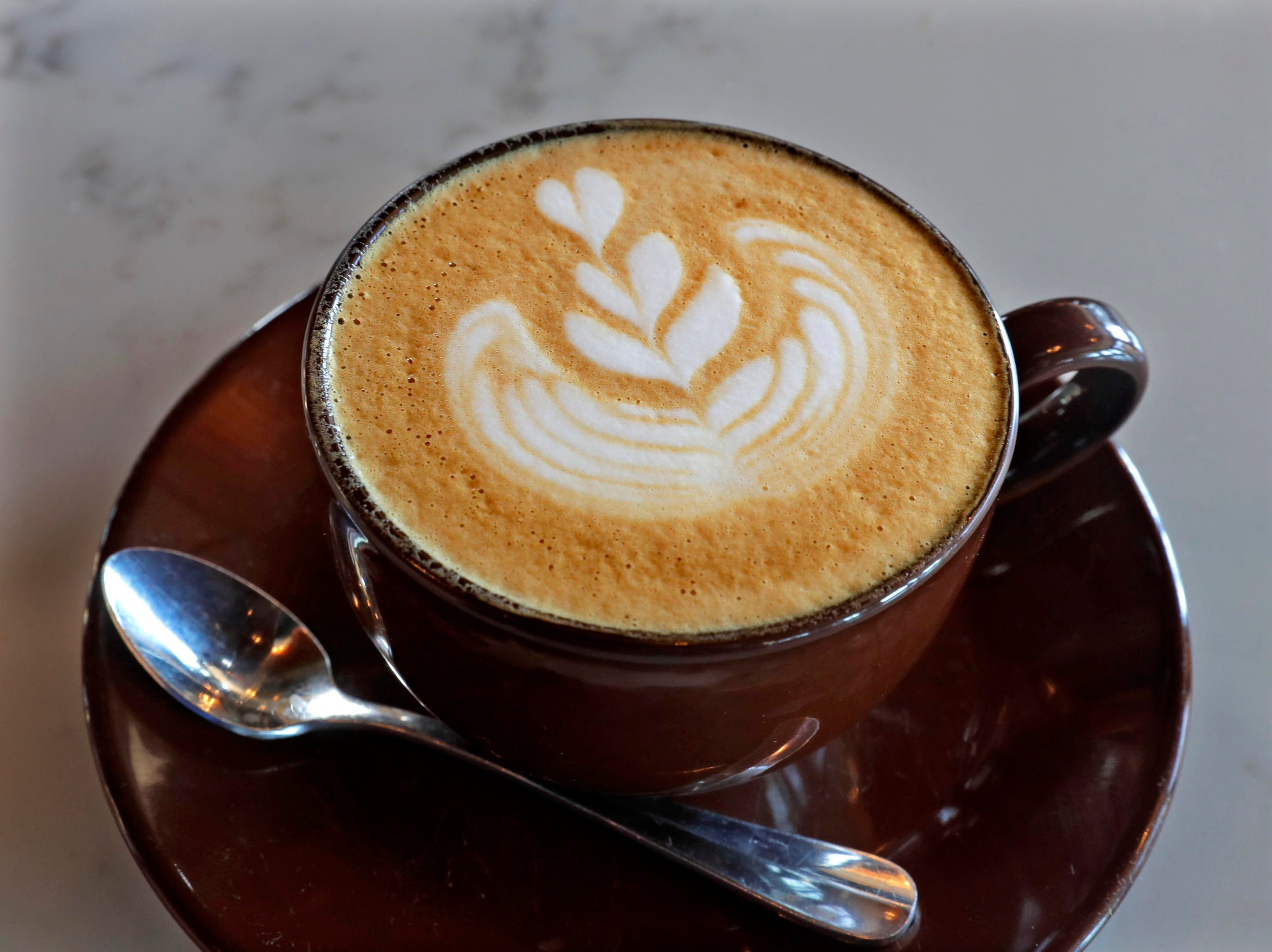 A cappuccino from Uncle Wolfie's Breakfast Tavern.
