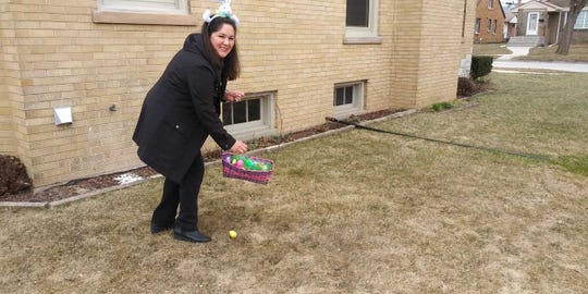 Silvia Cortes will hide Easter eggs for Milwaukee families.