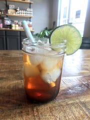 Pomegranate Soda with Lime and Orange Blossom can be mixed for two or for a crowd.