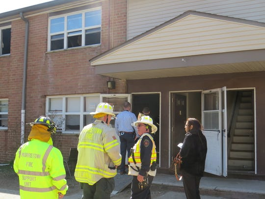 Residents of a 10-unit apartment building were displaced by a second-floor kitchen fire. No one was hurt. April 4, 2019