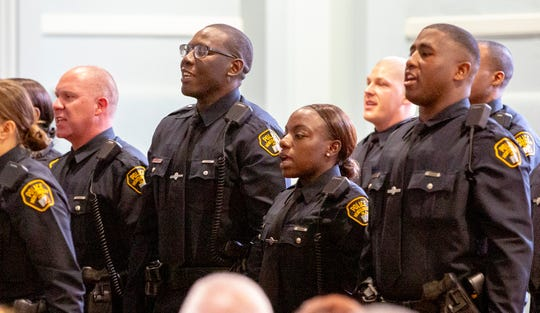 Montgomery police welcomed 15 new officers to their ranks.