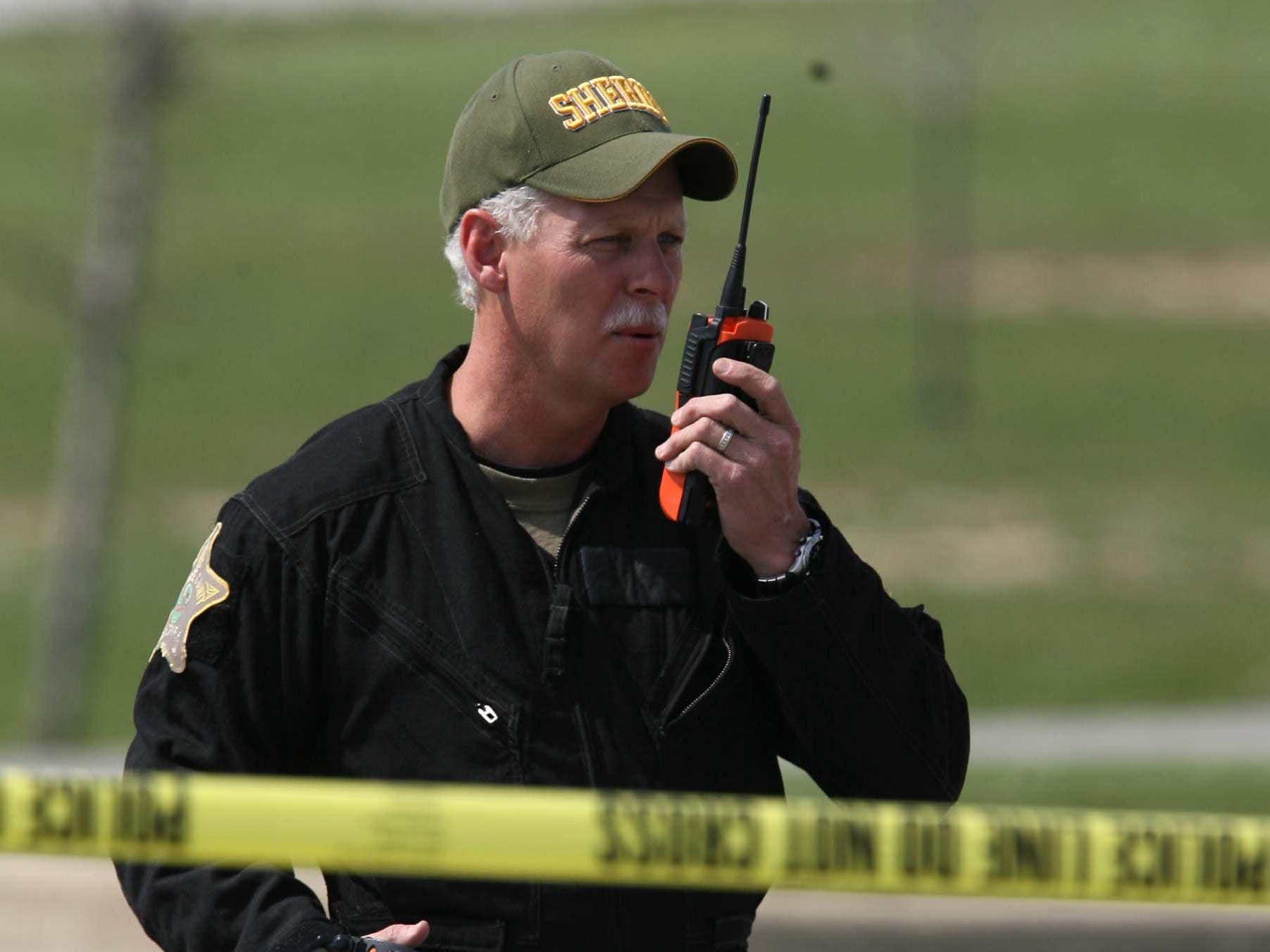 FROM 2007: Delaware County Sheriff George Sheridan at the scene of a riot at the New Castle Correctional Facility.