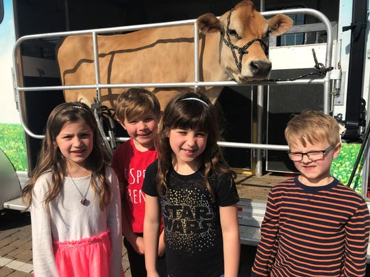 Jett the cow visited students at Overall Creek Elementary as part of hands-on STEM program through a partnership with Southland Dairy and Blackman High School.