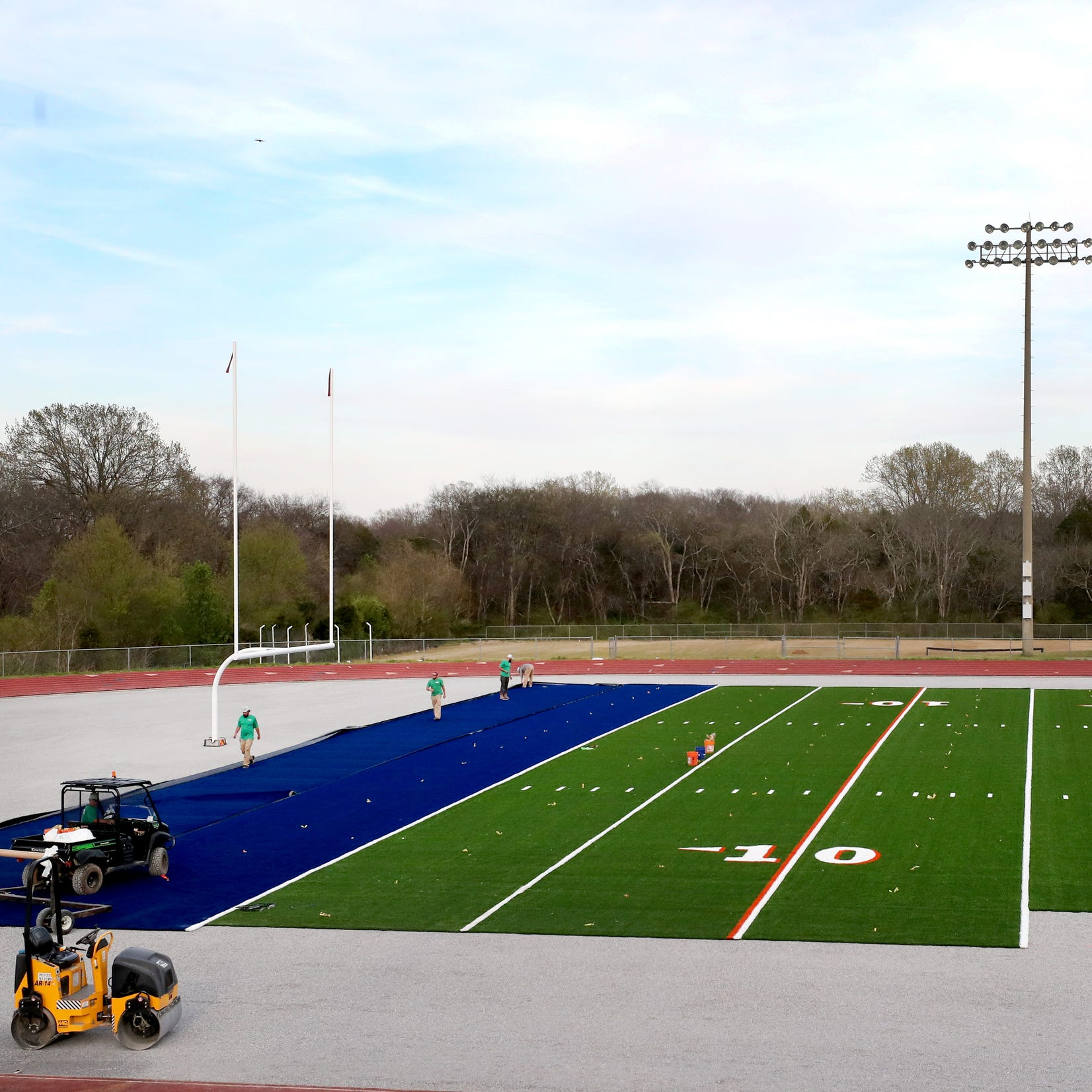 Blackman football field now covered in artificial turf