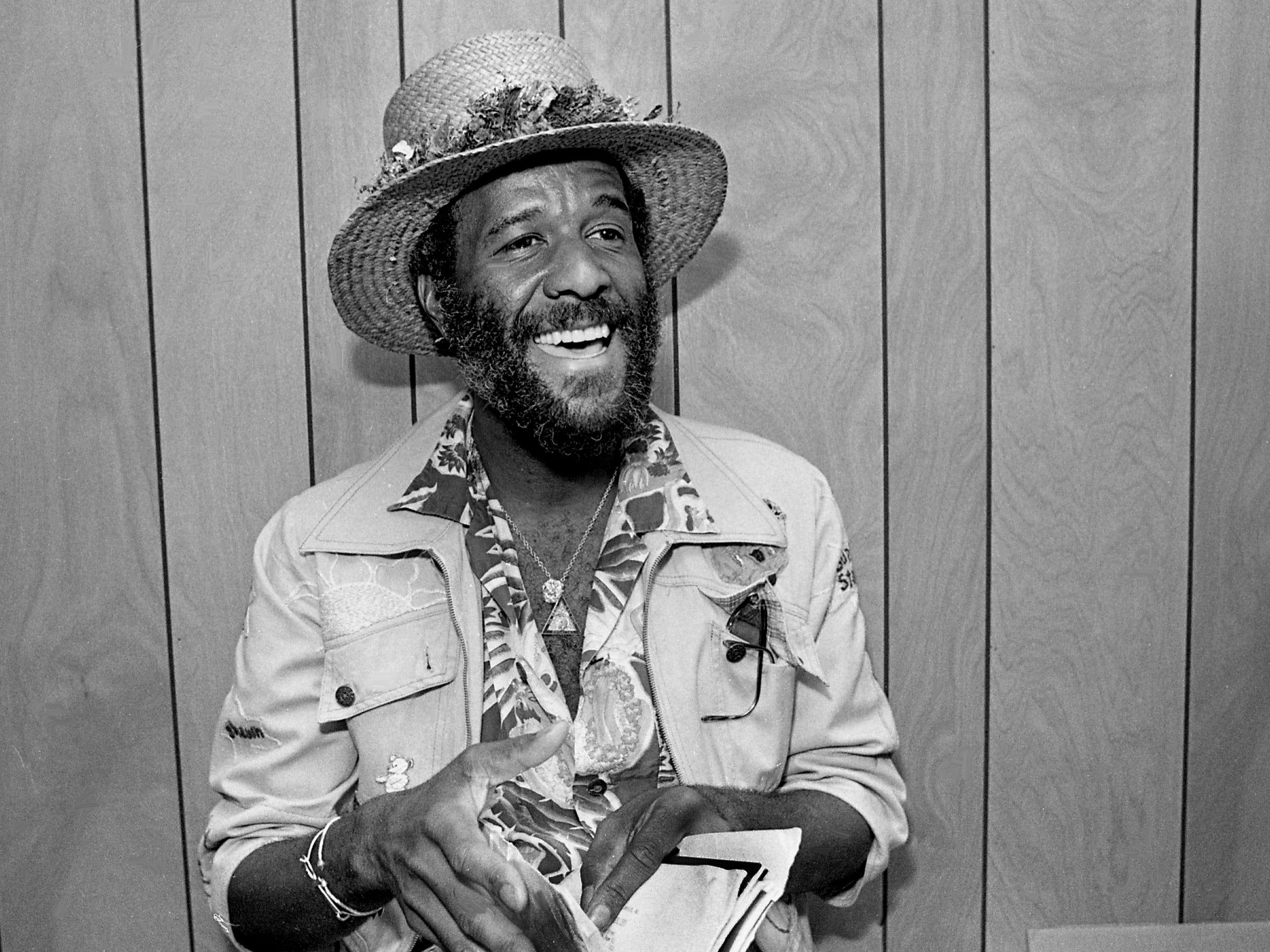 """Wally """"Famous"""" Amos, well known for his inimitable chocolate chip cookies, is giving an interview at The Tennessean on April 18, 1979. Amos recently was named national spokesman of Literacy Volunteers of America, Inc., and is in town to talk about the adult illiteracy organization."""