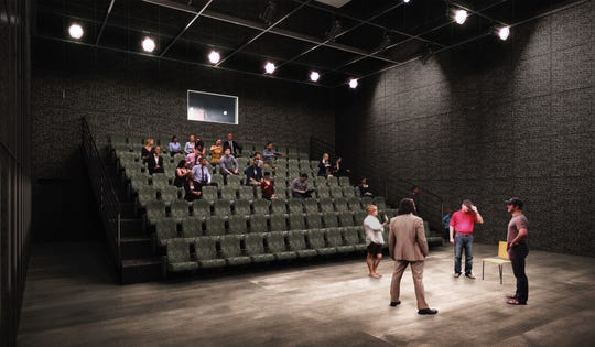 Rendering of the studio theater planned at the new Gulfshore Playhouse.