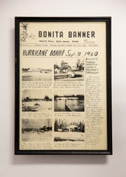 The handwritten Bonita Banner edition following the infamous Hurricane Donna.