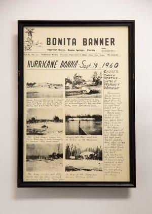 The handwritten Bonita Banner edition following the infamous Hurricane Donna.