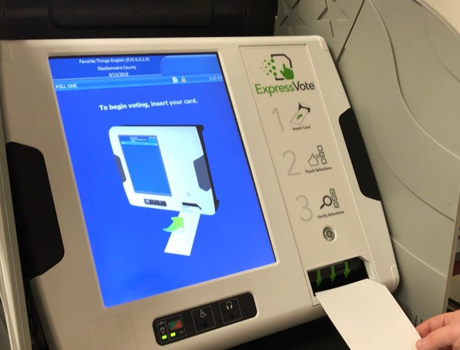 The new voting machine Licking County residents will use in the upcoming primary election.