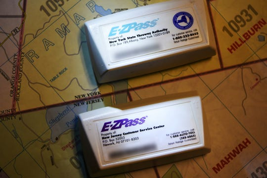 New York and New Jersey E-Z Pass transponders.