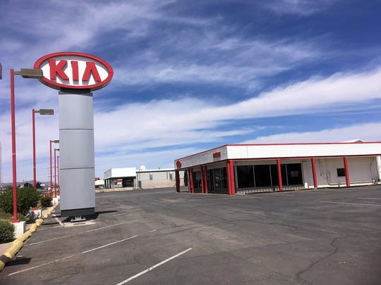 The Pitre Kia dealership relocated to 1840 N. Main Street and sold its Chrysler Jeep franchise, but is holding onto this property on S. Valley Drive for now. Seen on April 4, 2019.