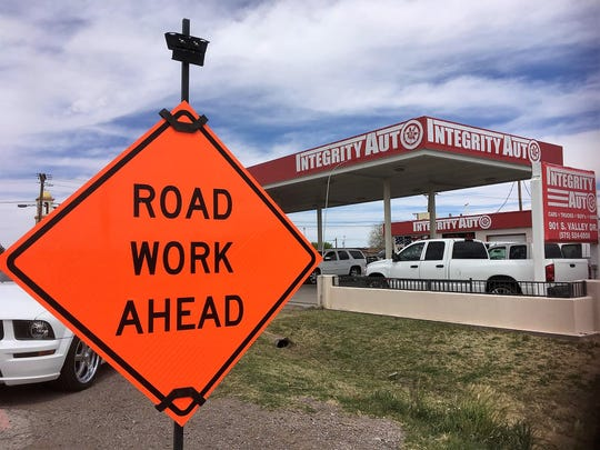 Integrity Auto, located at 901 S. Valley Drive, is bracing for phase 2 of Valley Drive construction. Owner Matthew Elgersma told the Sun-News customer traffic has already dropped 50 percent since work began. Seen on April 4, 2019.