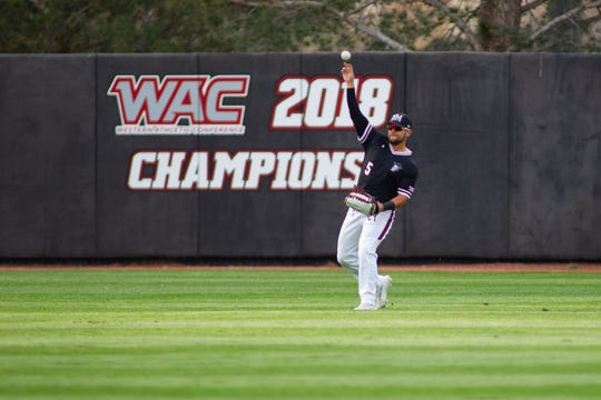 Tristen Carranza and the New Mexico State baseball team play host to Grand Canyon this weekend in a WAC series at Presley Askew Field.