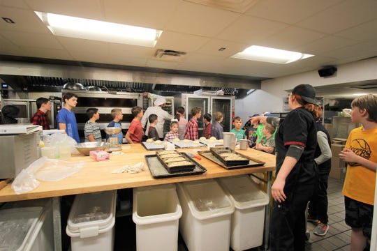 Home schooled children visit the Cornerstone Bakery get lesson on kitchen safety and what it is like to be a full-time pastry chef.