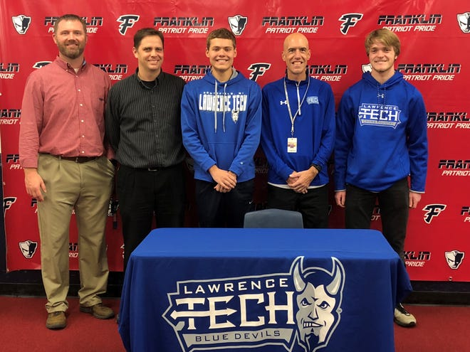 Franklin's Andrew Ulaszek will run cross country and track at Lawrence Tech next year.