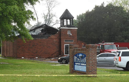 Images from the Mt. Pleasant Baptist Church Fire.