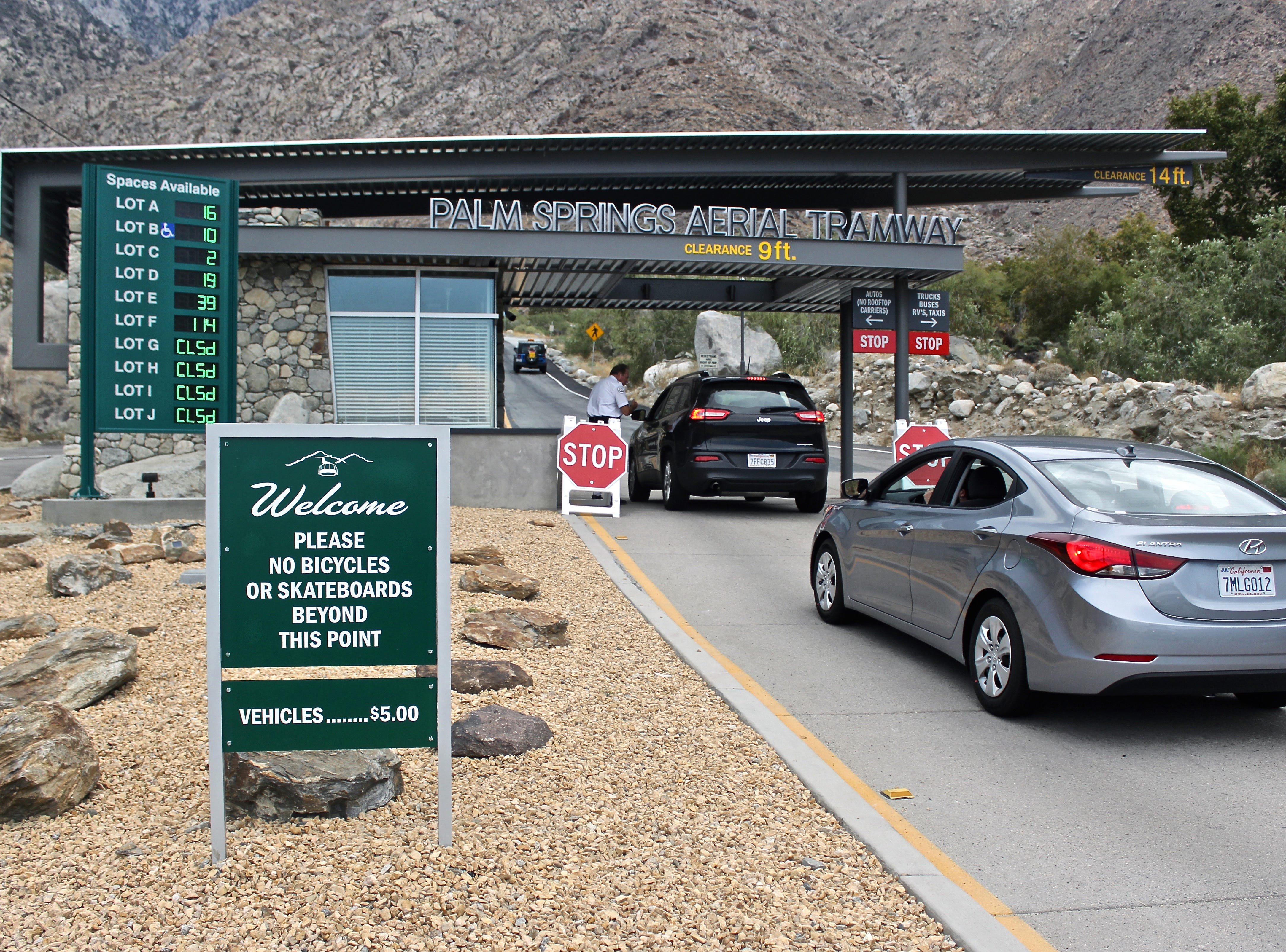 This August 2015 photo shows the entrance to the Palm Springs Aerial Tramway.