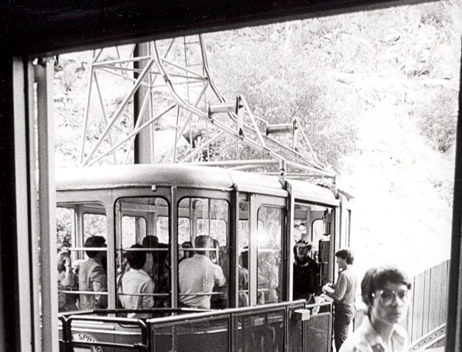 This undated photo shows the early days of the Palm Springs Aerial Tramway.