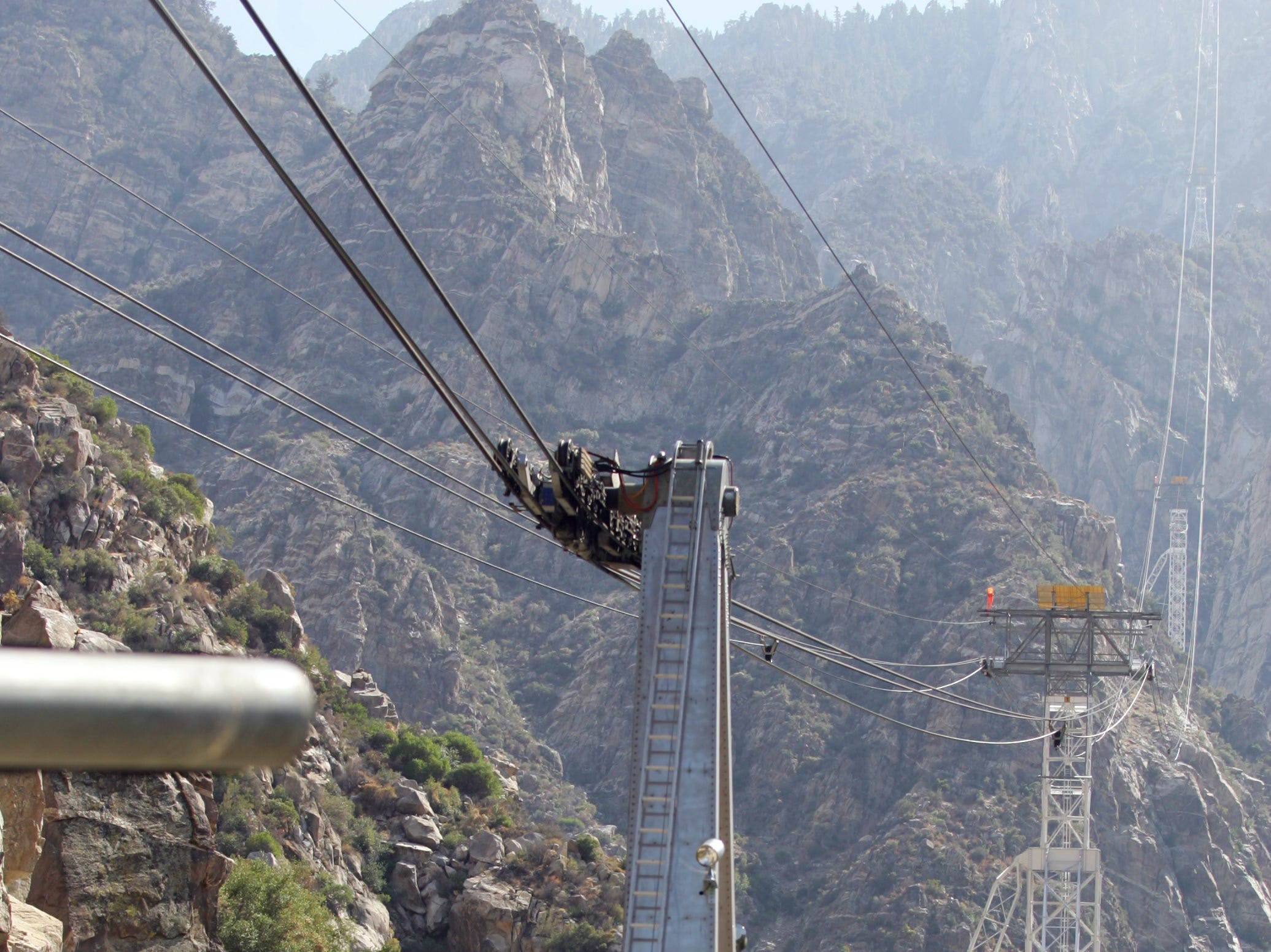 This August 2008 photo shows the Palm Springs Aerial Tramway