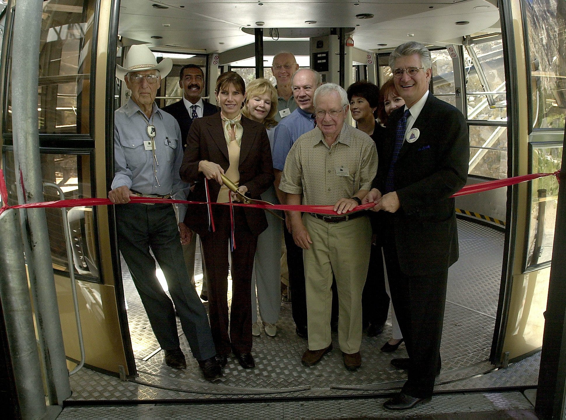 The Palm Springs Aerial Tramway's 40th anniversary is commemorated in this September 2003 photo.