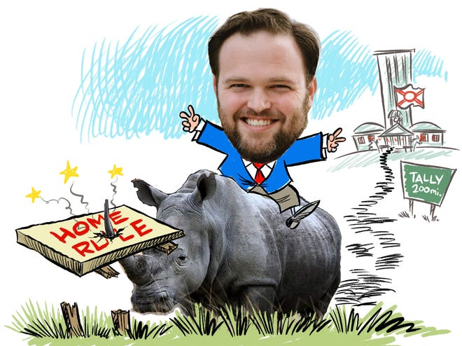 Rep. Alex Andrade calls himself a small government conservative while attacking home rule.