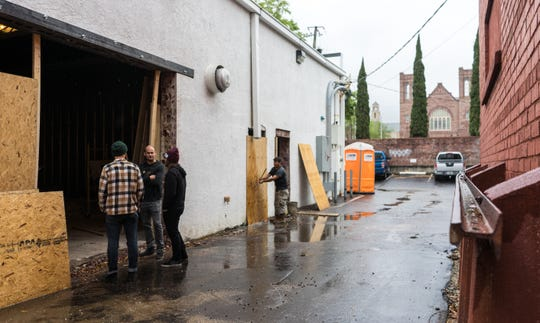 Odd Colony Brewing Co. is planning to turn its back parking lot into a beer garden after the brewery is opened.