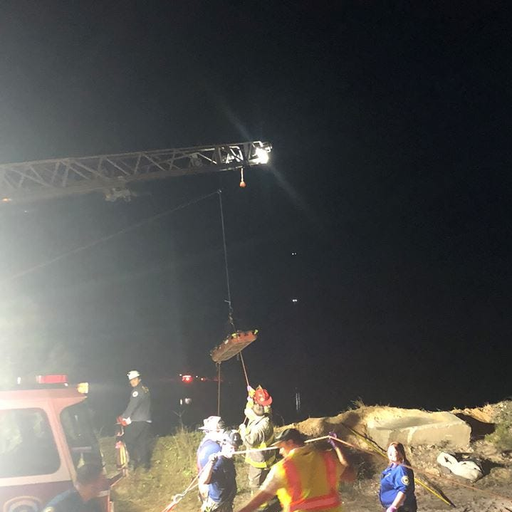15-year-old rescued after falling into 75-foot sand pit in Wedgewood