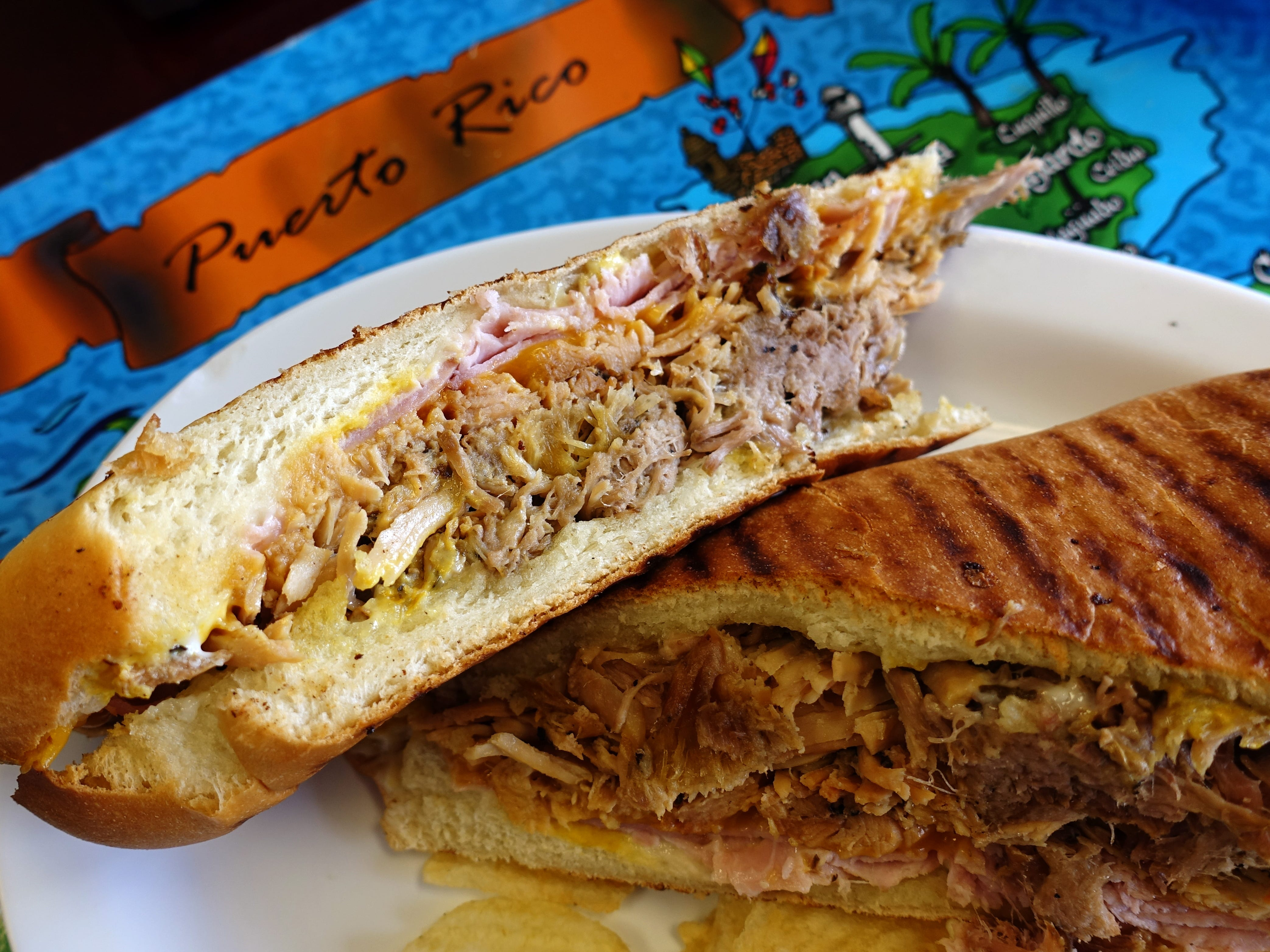 Tripleta sandwich with ham, roasted pork, roasted turkey and cheddar at Sweet Land Cake in Phoenix.