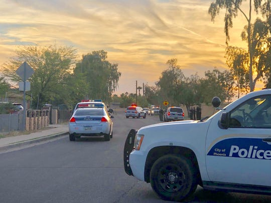 A Phoenix man and his 10-year-old daughter were in extremely critical condition April 3, 2019, after they were shot by someone in a truck who followed them as they pulled into their driveway, police said.