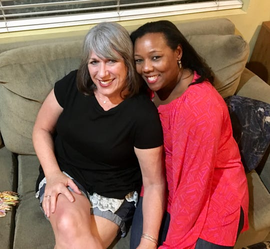 Karina Bland and her friend from middle school Stephanie Taylor, reunited for the first time in 40 years.