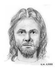 A sketch of the assailant in the March 28 attack.