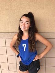 Layni Rodruiguez of Gilbert Mesquite beach volleyball