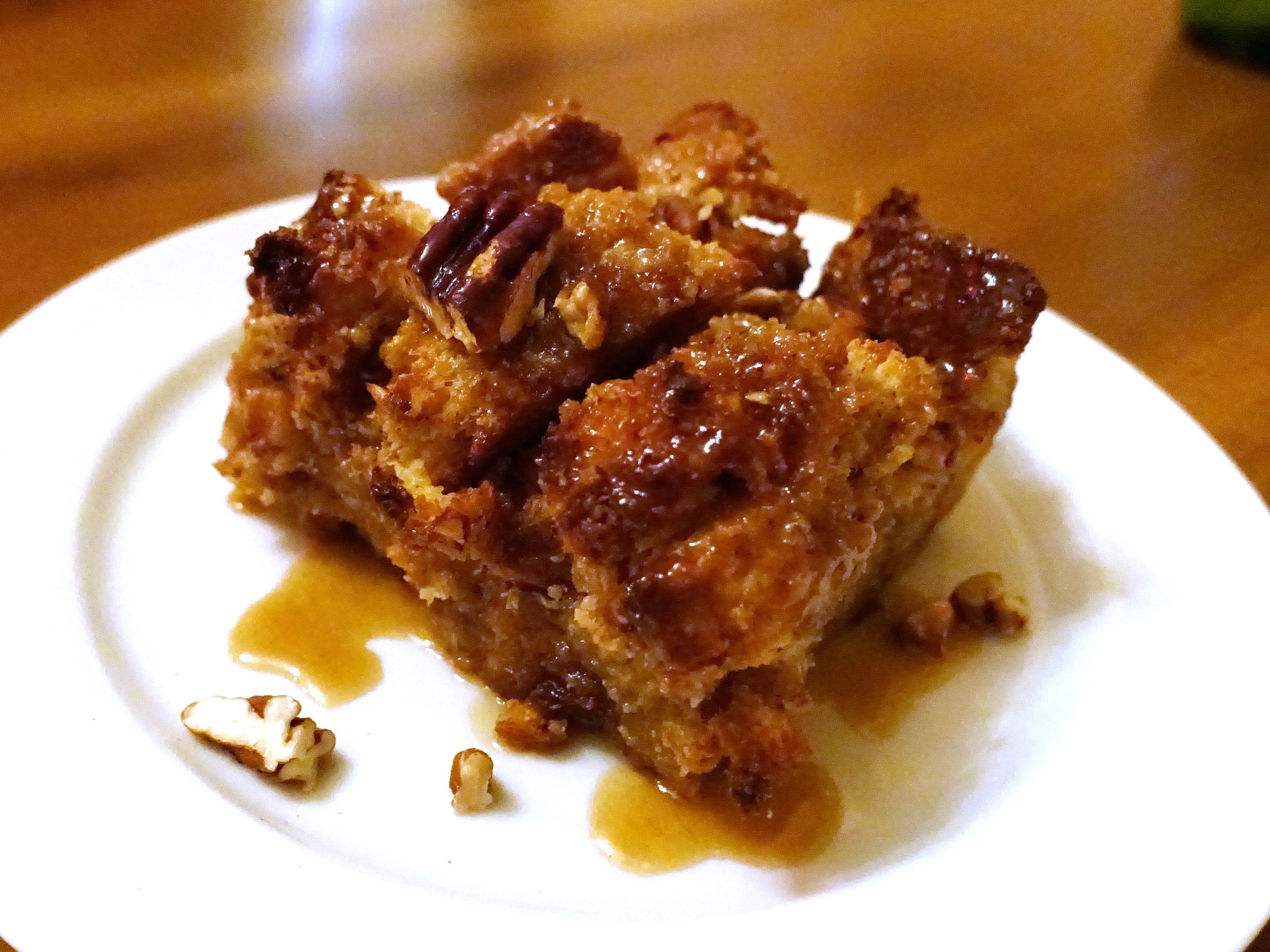 Caramel pecan brioche pudding at The Farish House in Phoenix.