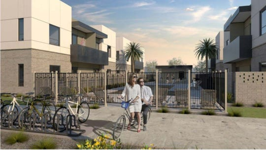 The Level, a new housing development in Tempe, will feature 80 two-story townhomes.