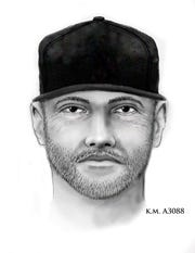 This is the sketch police have released of the man who they believe fatally shot a 10-year-old girl in her driveway on April 3, 2019.