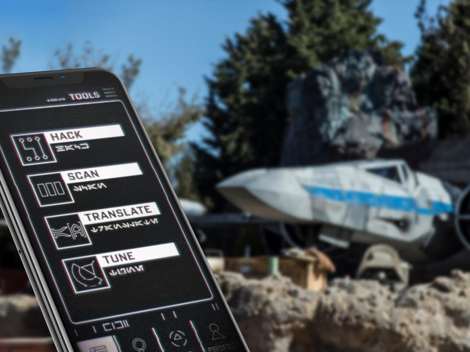 The Play Disney Parks app transforms into a data pad once inside Star Wars: Galaxy's Edge, opening May 31 at Disneyland and Aug. 29 at Disney World.