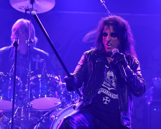 Alice Cooper performs at the 3rd Annual Revolver Golden God Awards at the Club Nokia on April 20, 2011 in Los Angeles, California.