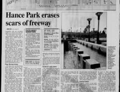 The April 19, 1992, edition of The Arizona Republic shows a story about the new Hance Park in Phoenix.